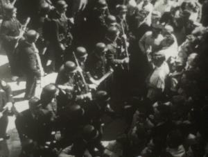 """Konfrontation zwischen """"Krawallmachern""""  und der Polizei..."""
