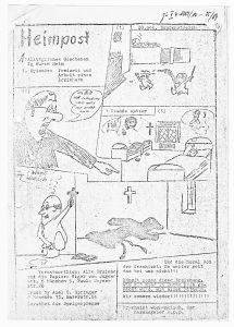 """Agitation in Jugendheimen: Flugblatt der """"Aktion Südfront"""", [1969]"""