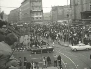 Ladenschlusskrawalle in der Kaufingerstraße und am Stachus, Juni 1953
