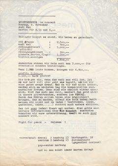 ...mit selbstorganisierten Konzerten die Kommerzialisierung der Popmusik aufzuheben, [1970].