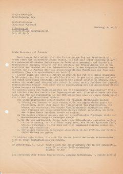 Aufruf zur VV 1971