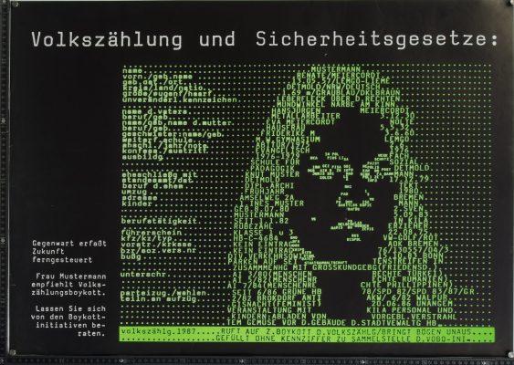 Plakat Volkszählung und Sicherheitsgesetze