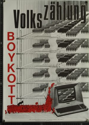 Plakat Volkszählungsboykott