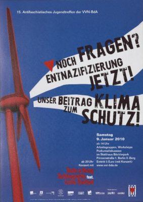 Ankündigung des 15. Antifaschistischen Jugendtreffens der VVN-BdA,  2010 - Signatur:  SBe_561_P2_2018_260