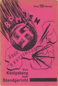 """Broschüre """"Bomben über Deutschland. Von Königsberg zum Standgericht"""", 1932"""
