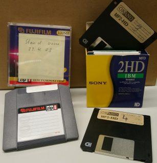 3,5 Zoll Diskette und ZIP-Datenträger