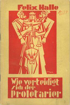 """Broschüre """"Wie verteidigt sich der Proletarier in politischen Strafsachen vor der Polizei, Staatsanwaltschaft und Gericht?"""", 1929 (3. Auflage)"""