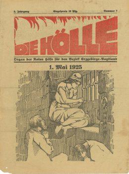 """Regionalzeitung """"Die Hölle. Organ der Roten Hilfe für den Bezirk Erzgebirge-Vogtland"""", Mai 1924"""