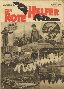 """""""Der Rote Helfer"""", Zentralorgan der Roten Hilfe Deutschlands bis 1928; Ausgabe von Januar 1928"""