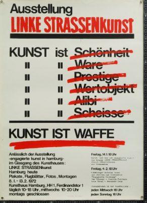 "Veranstaltungsplakat des Hamburger Plakatkollektivs ""Linke Strassenkunst"", 1972 - Signatur: SBe_415_P1_33"