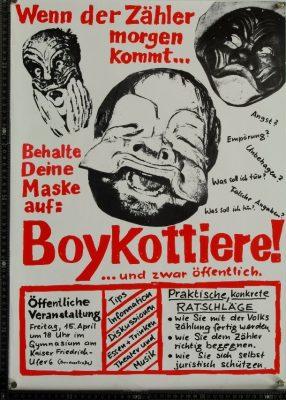 Aufruf zum Boykott der Volkszählung, Hamburg 1983 - Signatur: SBe_444_P2_VoBo_14