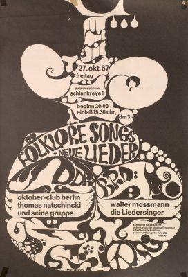 Grenzübergreifendes Veranstaltungsplakat aus der Friedensbewegung , 1967 - Signatur: SBe_543_P2_11