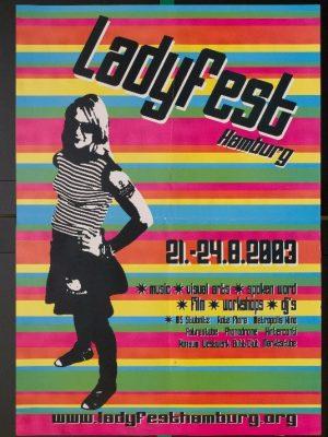Veranstaltungsplakat für das Ladyfest Hamburg, 2003 - Signatur: SBe_100_P2_17