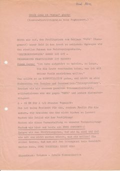 Mit einem FREE CONCERT gegen die Profithengste: Die Gruppe Totakom versucht es 1970 in Nürnberg.