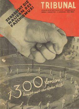 """""""Tribunal"""", Zentralorgan der Roten Hilfe Deutschlands  ab 1929, Ausgabe vom 1. Januar 1931"""