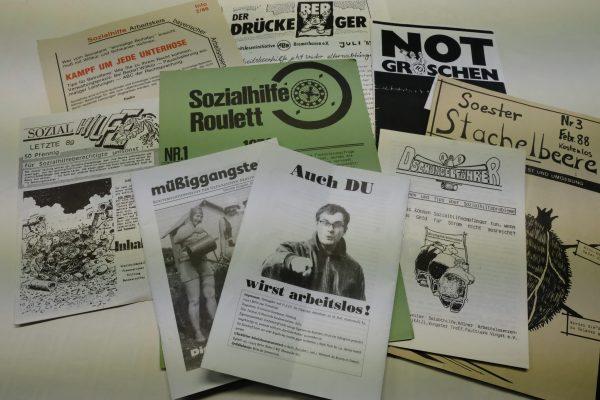 verschiedene Zeitschriften der Erwerbslosenbewegung