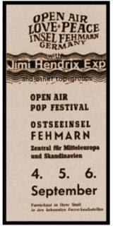Vorab-Poster zum Festival auf Fehmarn 1970